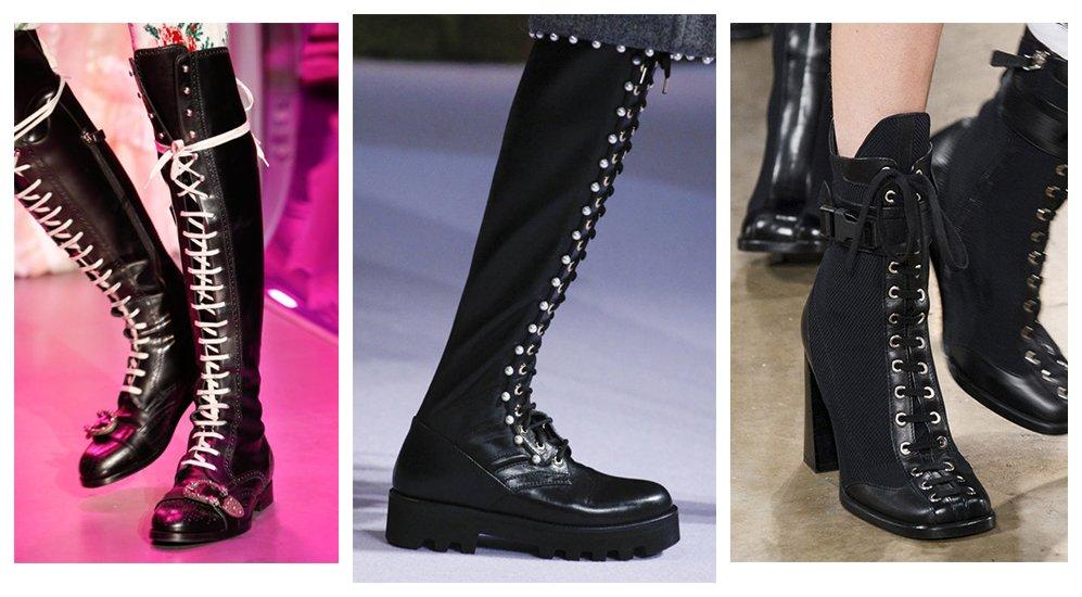 da546884d Ботильоны на шнуровке, или солдатские ботинки. Как и с чем носить?